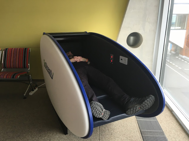 Airport Sleeping Pods - Fits a big person like me!