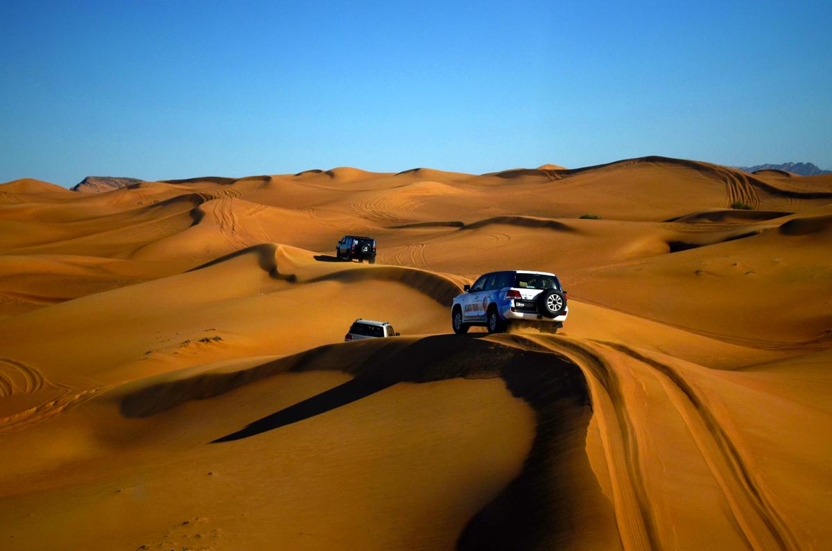 Dubai desert dune riding