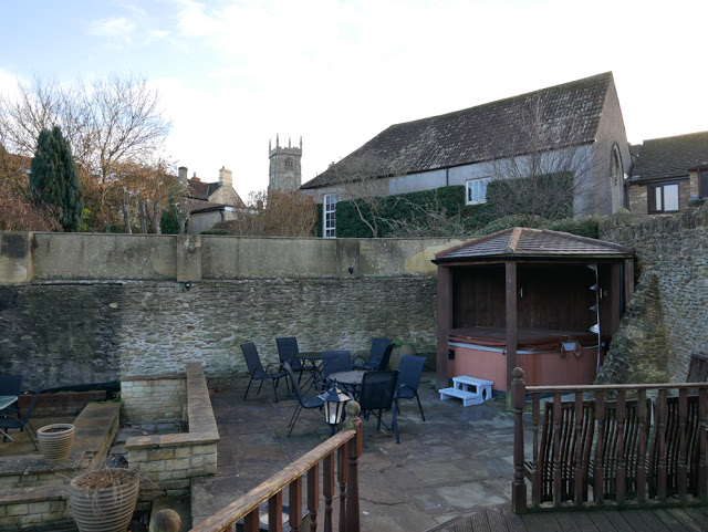 The outdoor hot tub at the Cornhouse - Best Airbnb house in the UK?