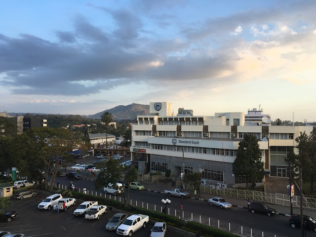 Sunset view over Blantyre, South Malawi