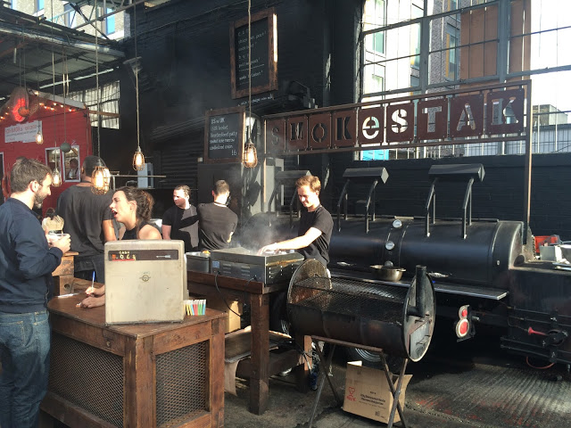 The Smokestak set up - Dalston Yard, London