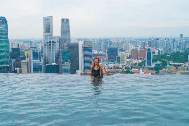 The Marina Bay Sands infinity pool view - Singapore