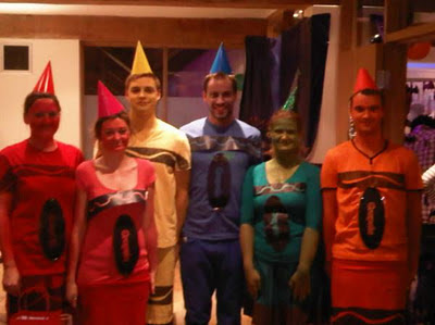 Fancy dress as crayons