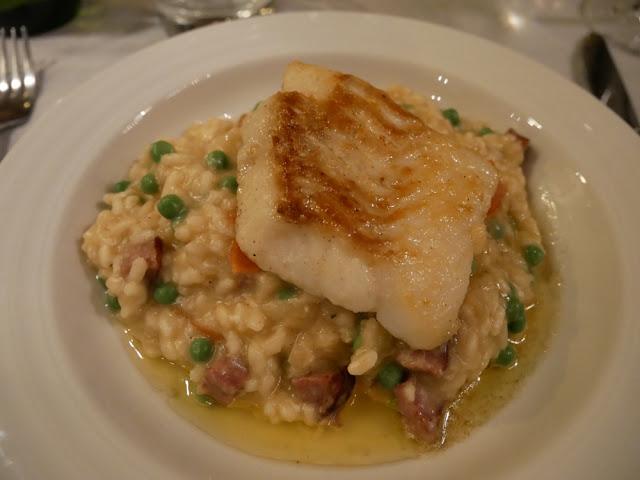 Monkfish risotto - Chalet Braye | Fish & Pips, Meribel Village