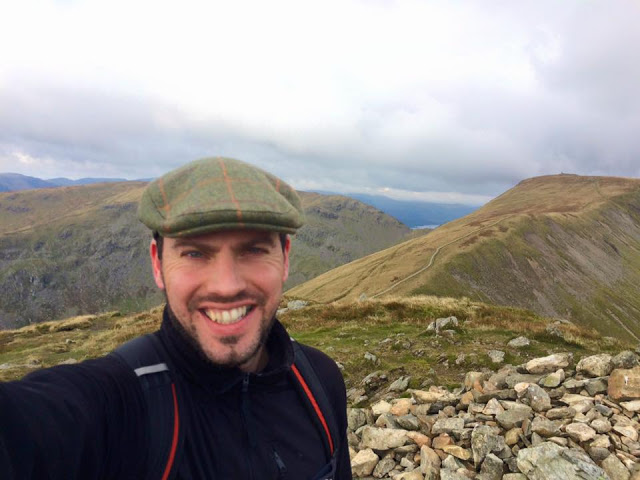 Simon Heyes on top of Ill Bell, in the Lake District