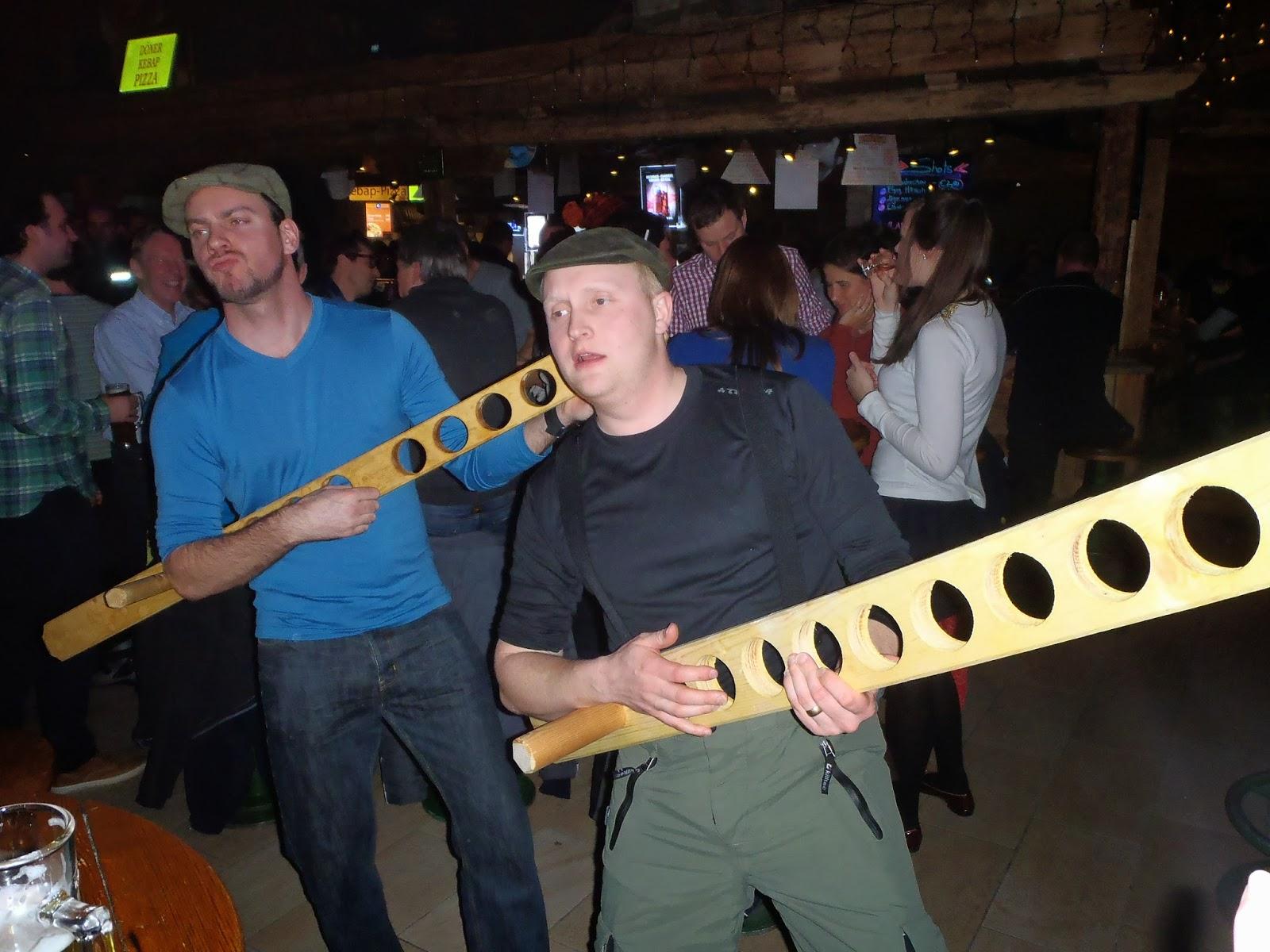 Air guitar, metre of beer, Bruck n' Stadl