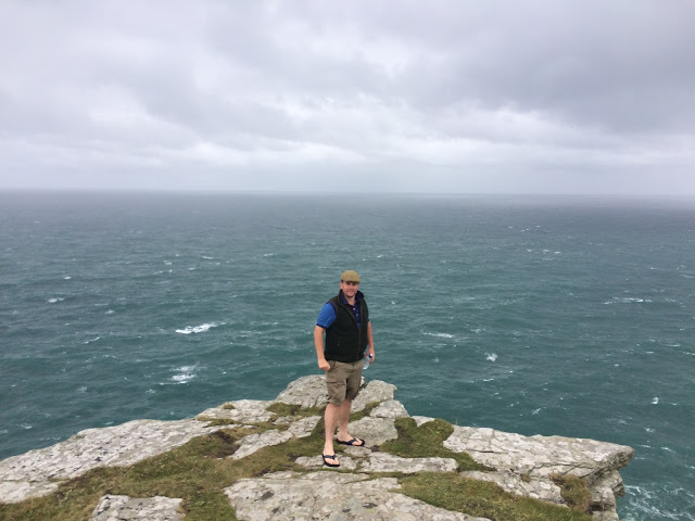 The ocean view from Tintagel Castle, Cornwall