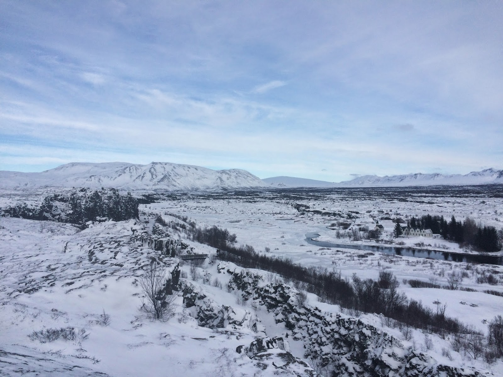 The Parliament Plains in the Thingvellir National Park, Iceland