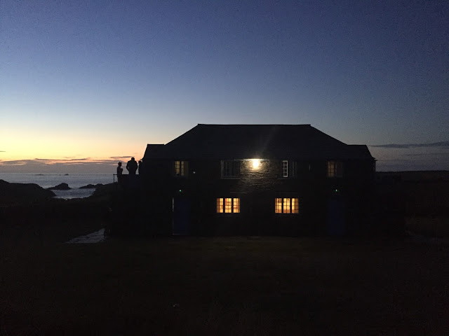 Beach Head Bunkhouse at night - South West Coast Path, Cornwall