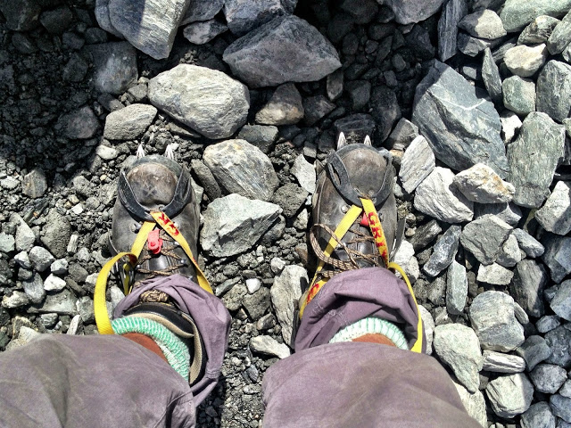 Crampons for the Fox Glacier
