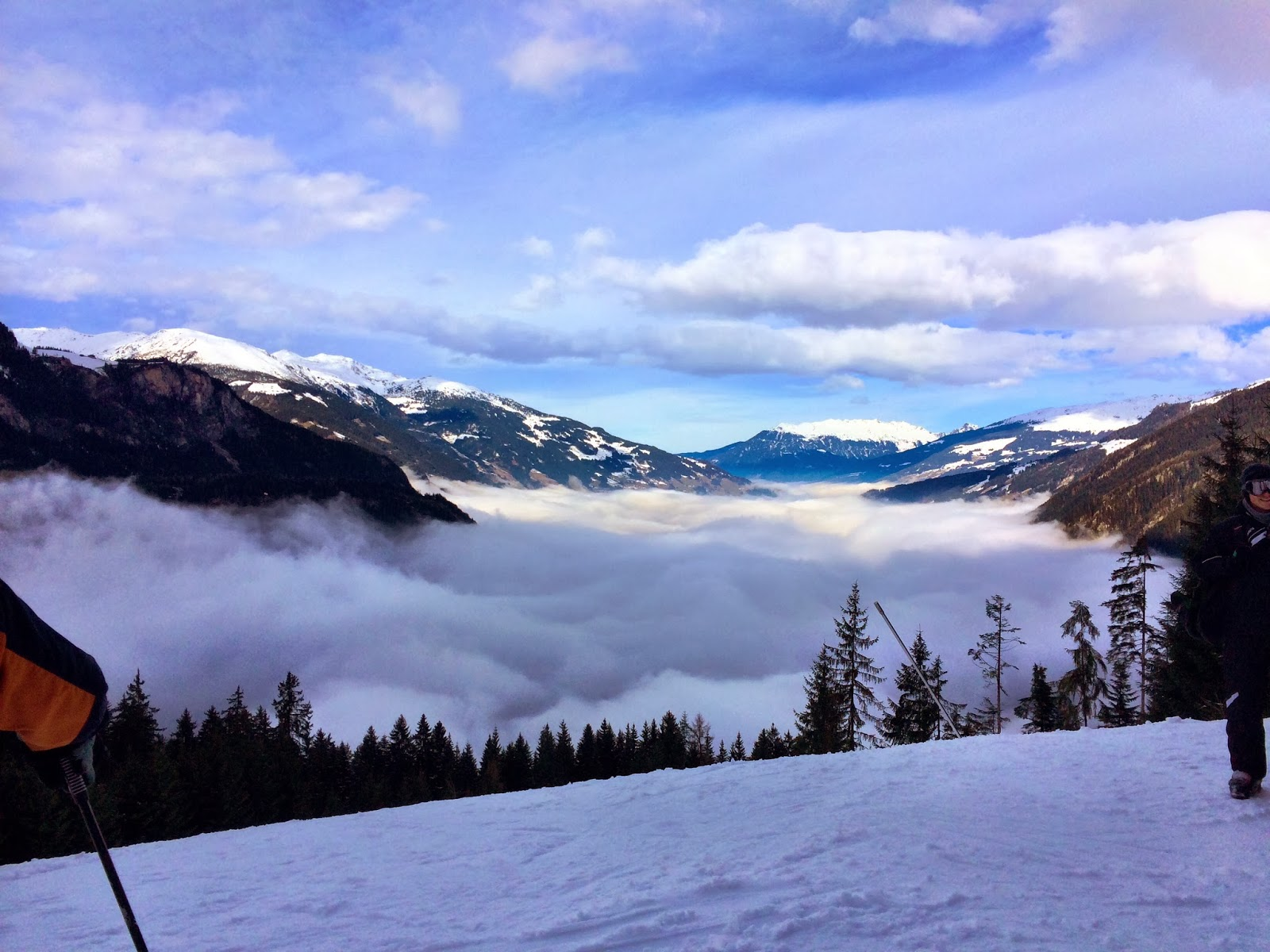 A scenic, sunny inversion on the Penken, Maryhofen