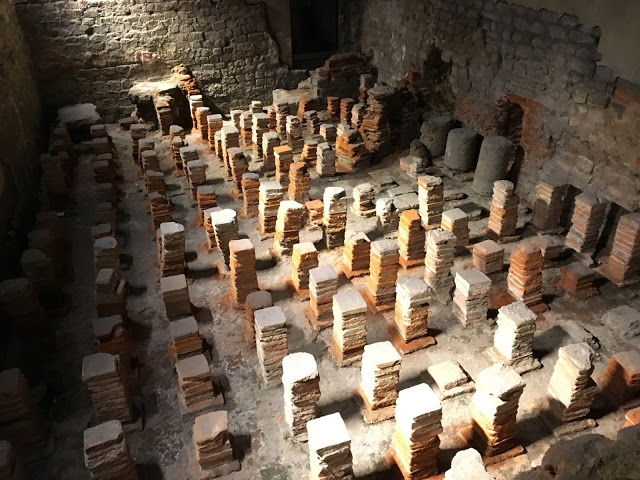 Underfloor heating, Roman style - Roman Baths, Bath