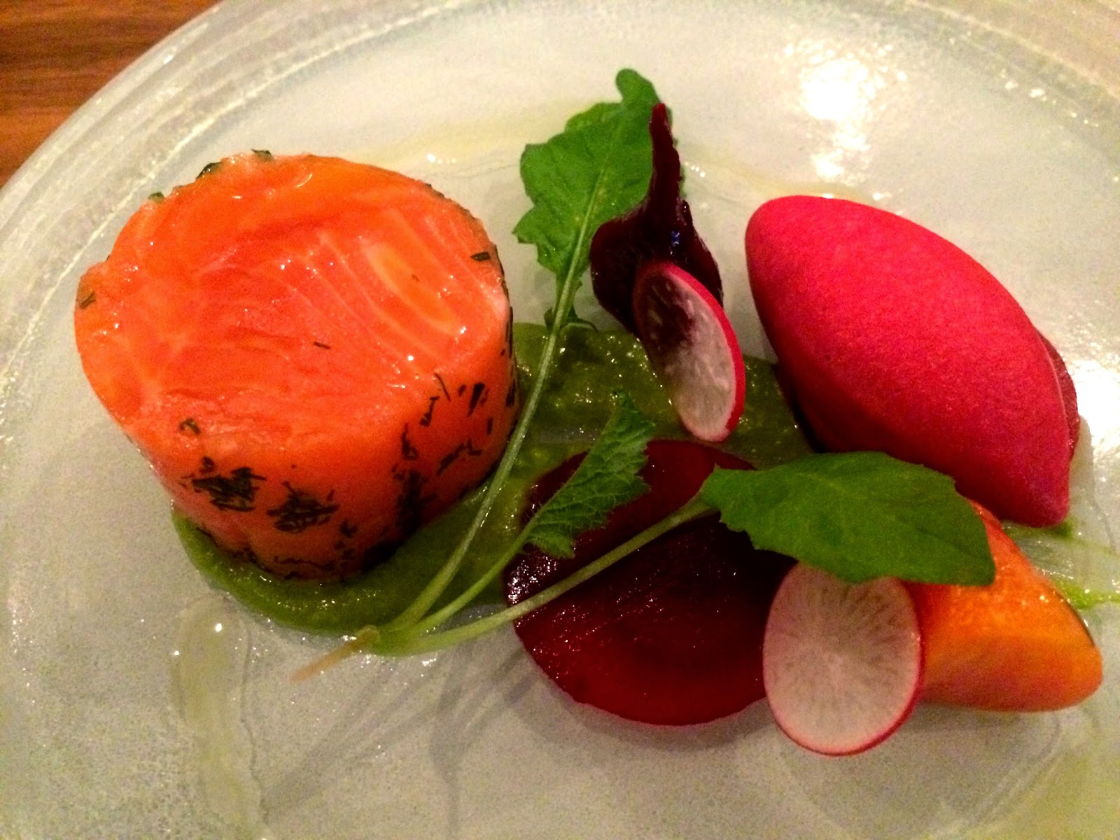 Sea trout with beetroot - The Artichoke