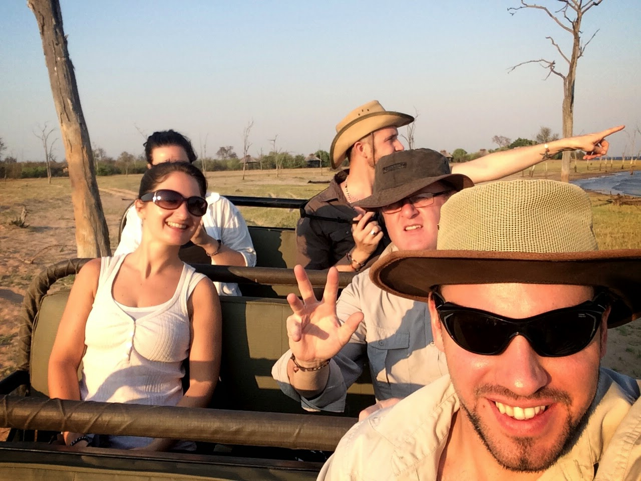 Game drive selfie - Rhino Safari Camp concession