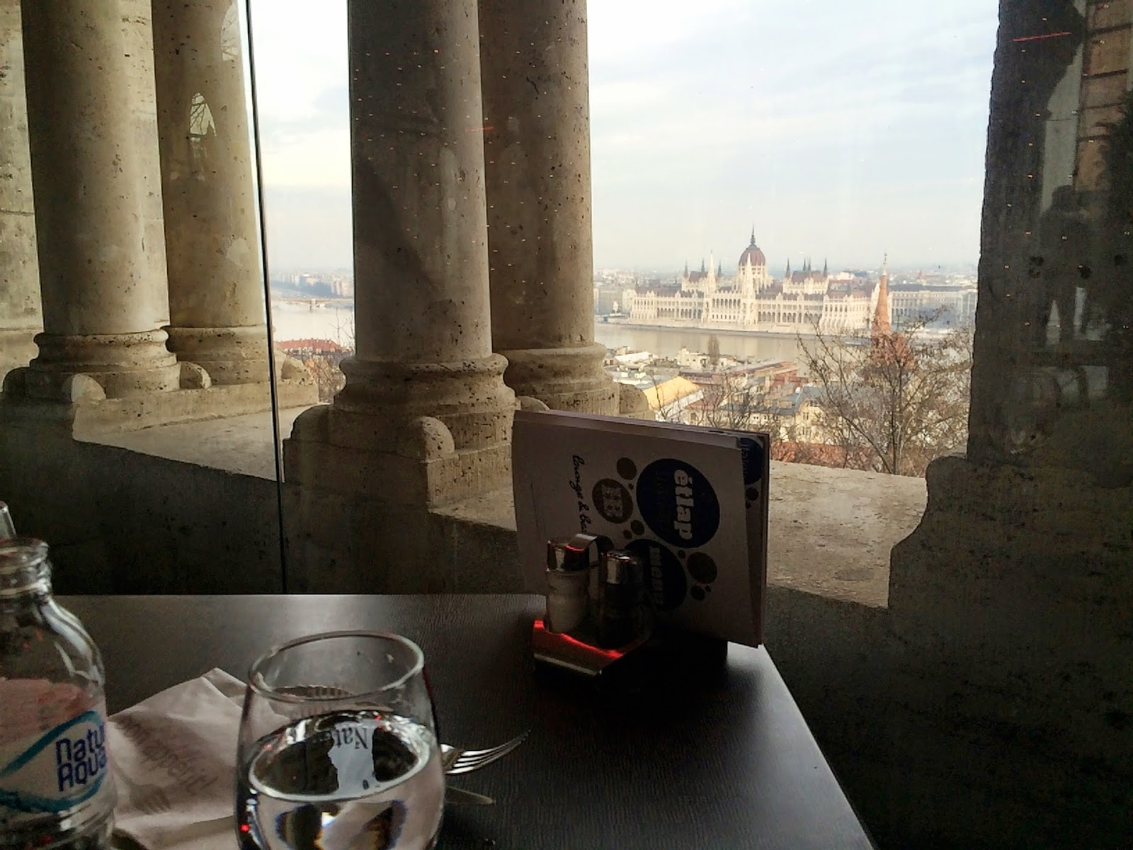 Lunch with a view - Fisherman's Bastion, Budapest