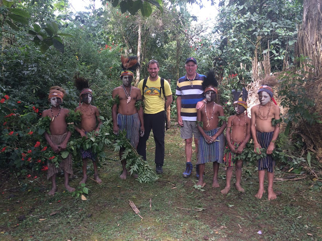 Joining the photo after the spirit dance in Mount Hagen