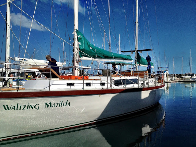 Waltzing Matilda in Airlie Beach marina
