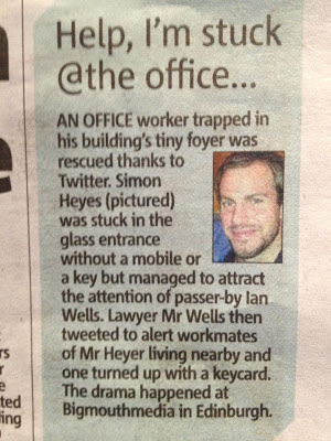 How Twitter saved my bacon, and the story made the Metro