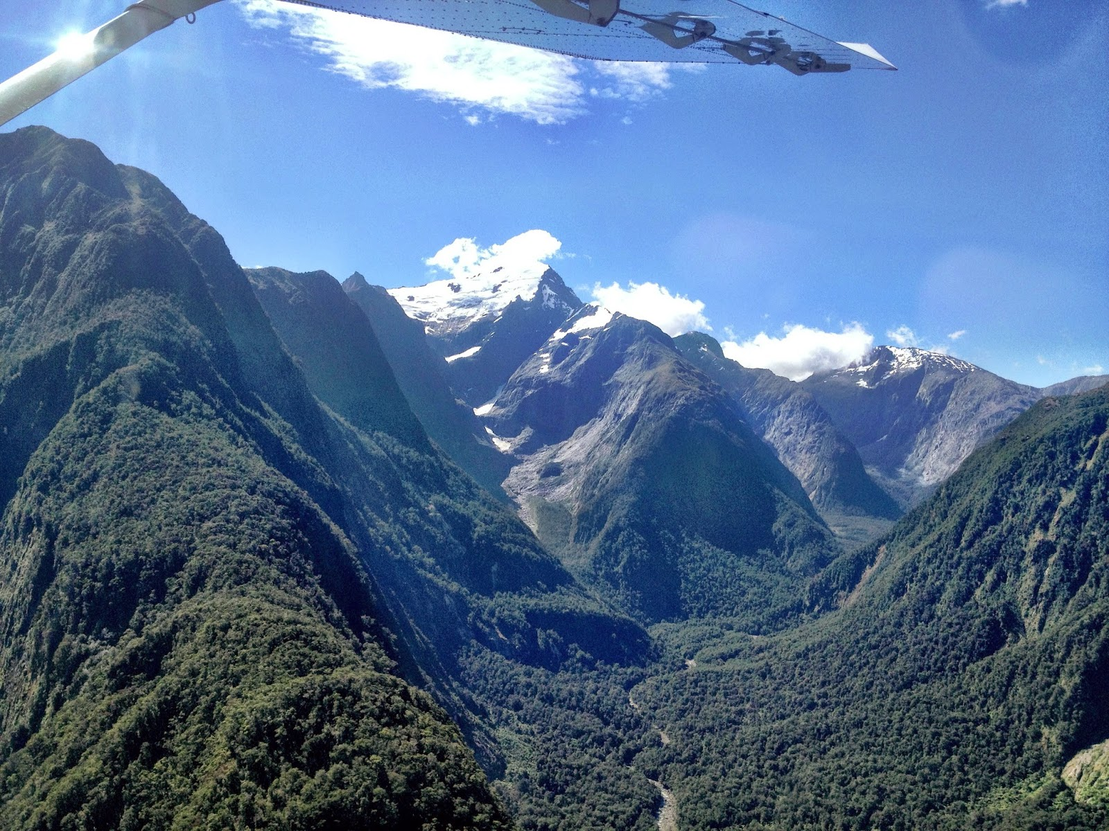 View from the plane - Milford Sound, Fiordland, New Zealand