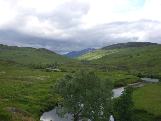 The view from the Staoineag bothy, Scotland