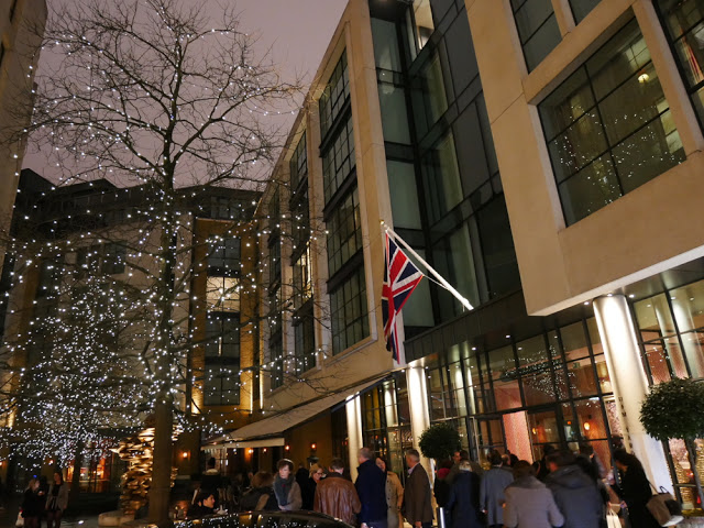 Outside the Ham Yard Hotel - BA Amex event, London