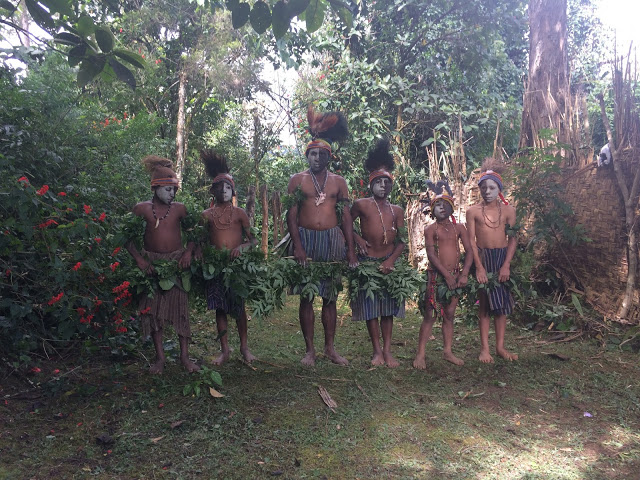 Tribal boys at the end of the spirit dance - Mount Hagen, Papua New Guinea