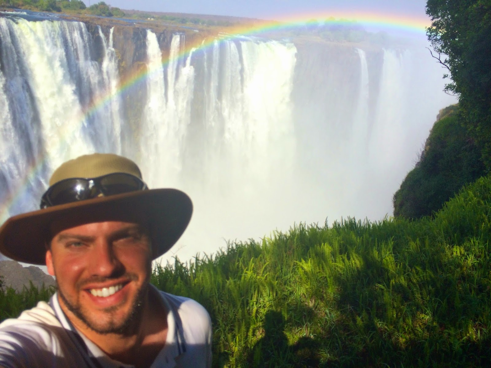 Simon at Victoria Falls, Zimbabwe