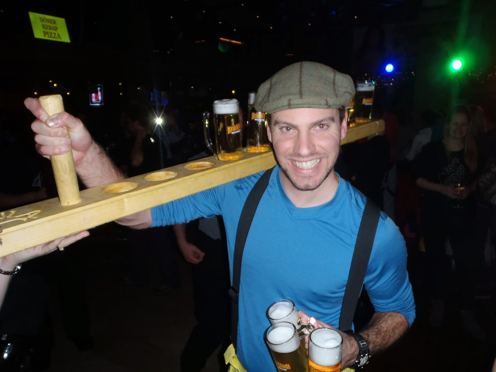 Simon with a metre of beer - Bruck N' Stadl, Mayrhofen