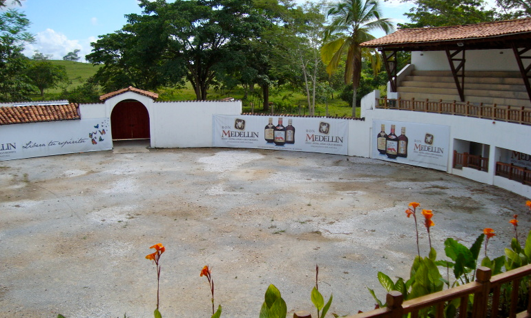 Pablo Escobar's bullfighting ring, as seen as Hacienda Napoles