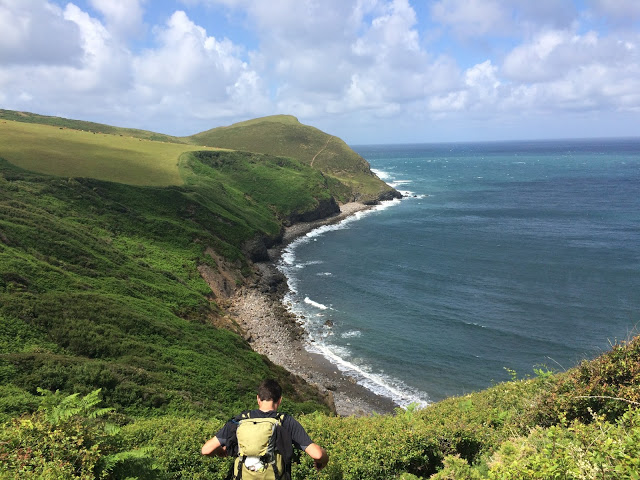 Views of the South West Coast Path, near Crackington Haven