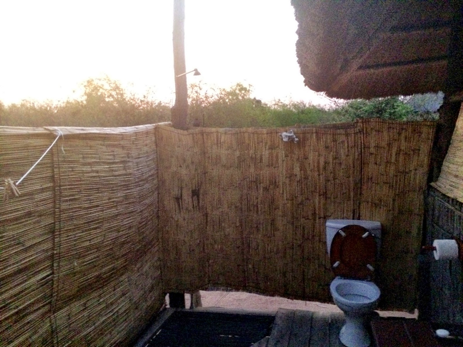 The outdoor toilet, shower & bathroom - Rhino Safari Camp