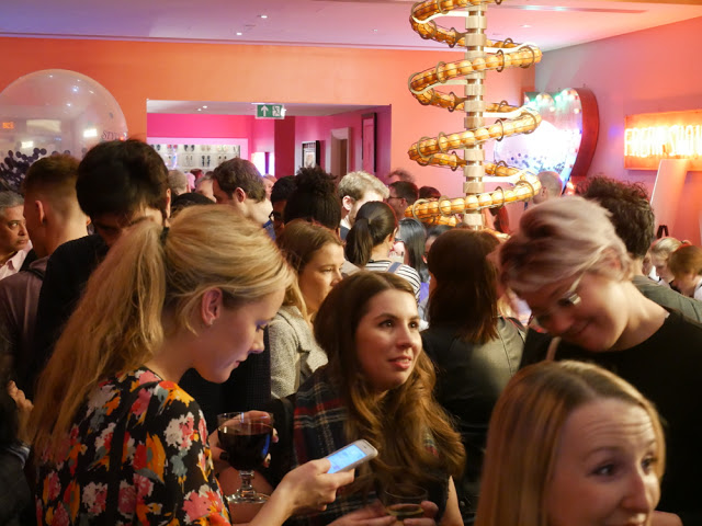 Mingling at the Ham Yard Hotel, Dive Bar - BA Amex Shortlist event, London