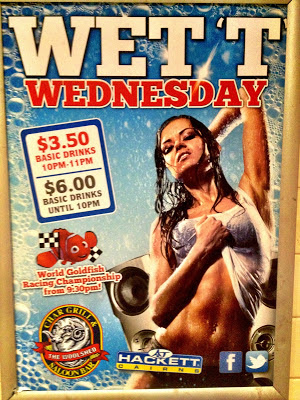 Wednesday promotion poster at The Woolshed, Cairns