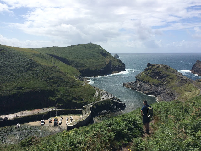 Overlooking Boscastle harbour - South West Coast Path, Cornwall