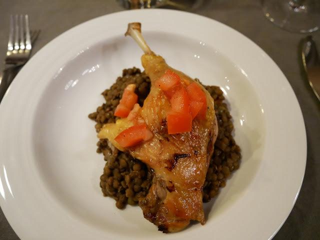 Slow-cooked duck leg - Chalet Braye | Fish & Pips, Meribel Village