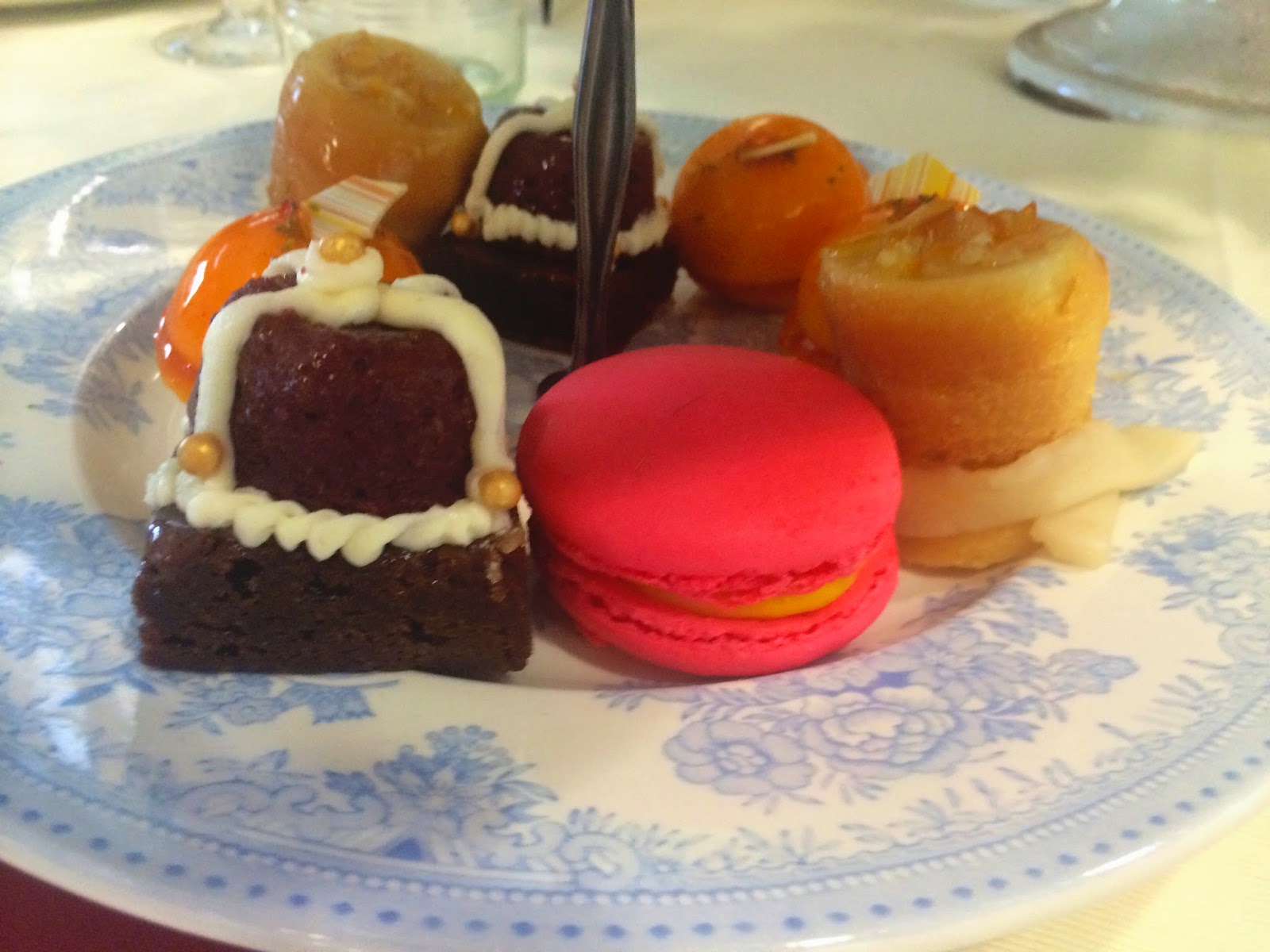 Delicious macaroons, chocolate cake and lemon sponge - Ascot Fine Dining 2015