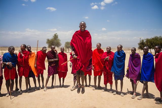 Kenya's famous Maasai people