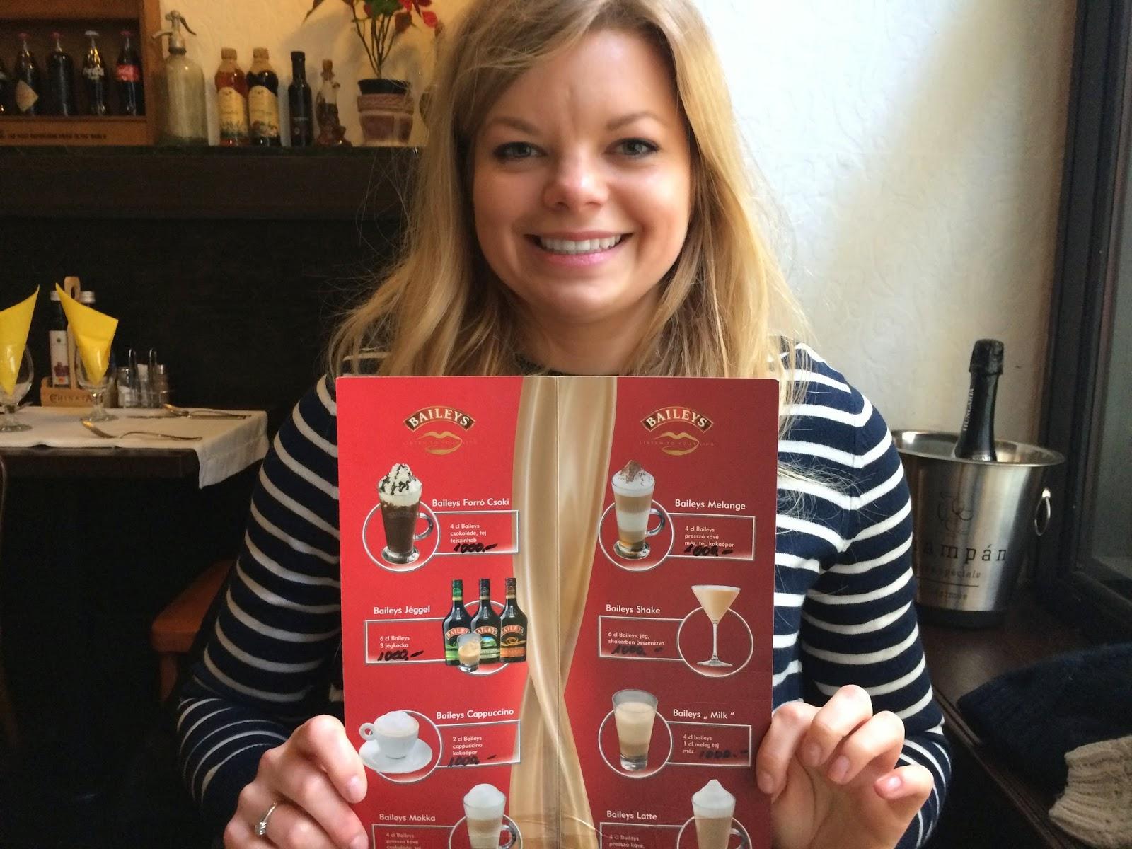 Bailey's menu - Misto Bistro, Budapest