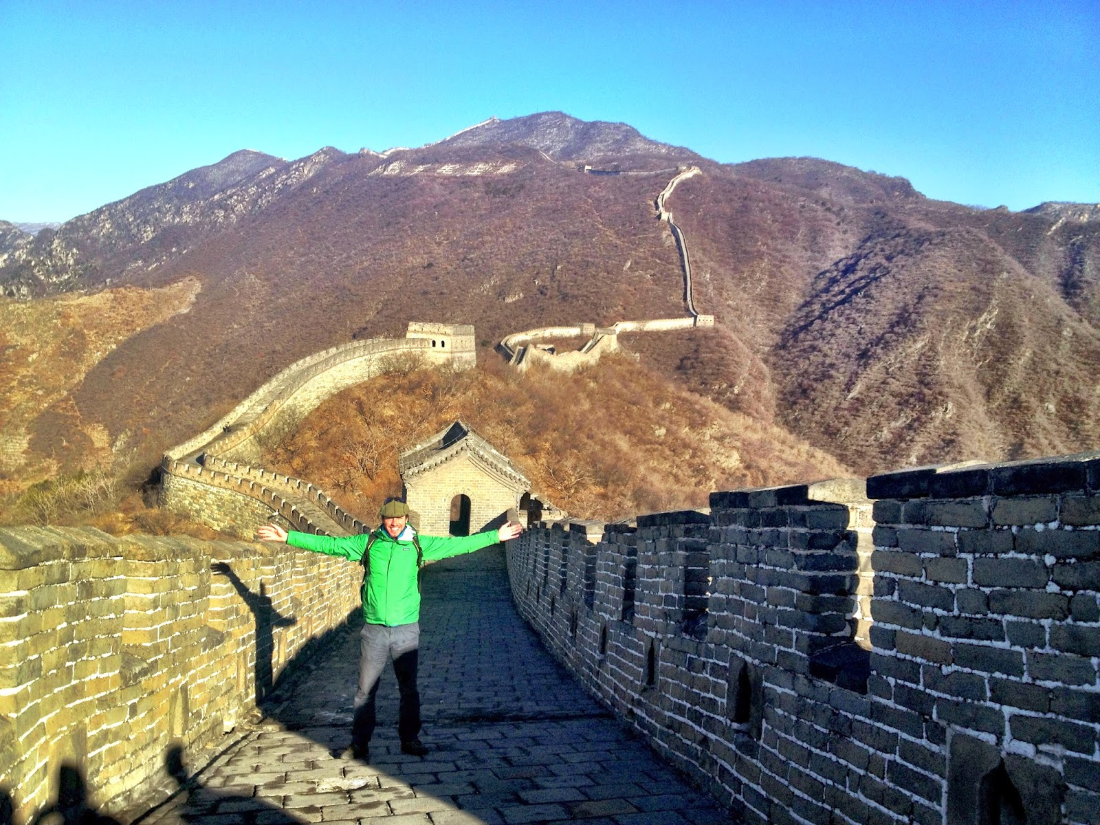 Standing in the sun on The Great Wall Of China