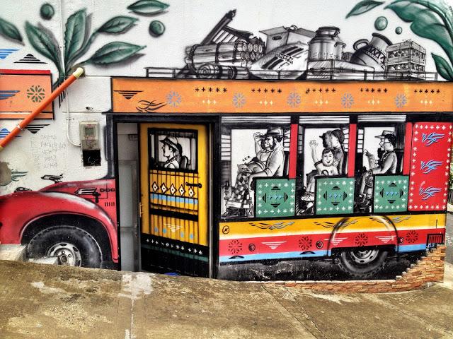 Street art in Santa Domingo, Medellin