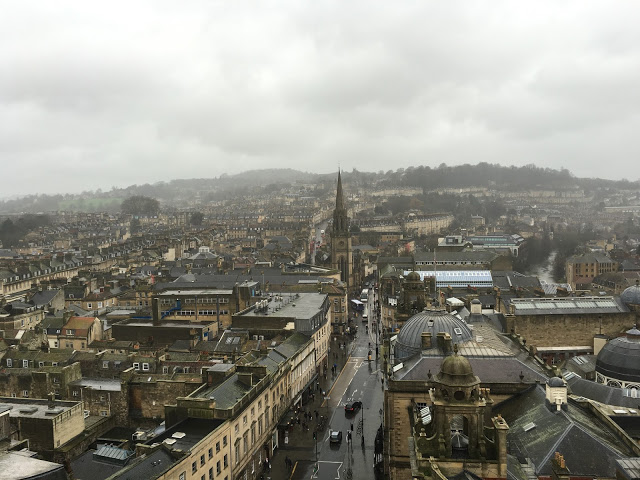 The view from Bath Abbey, looking