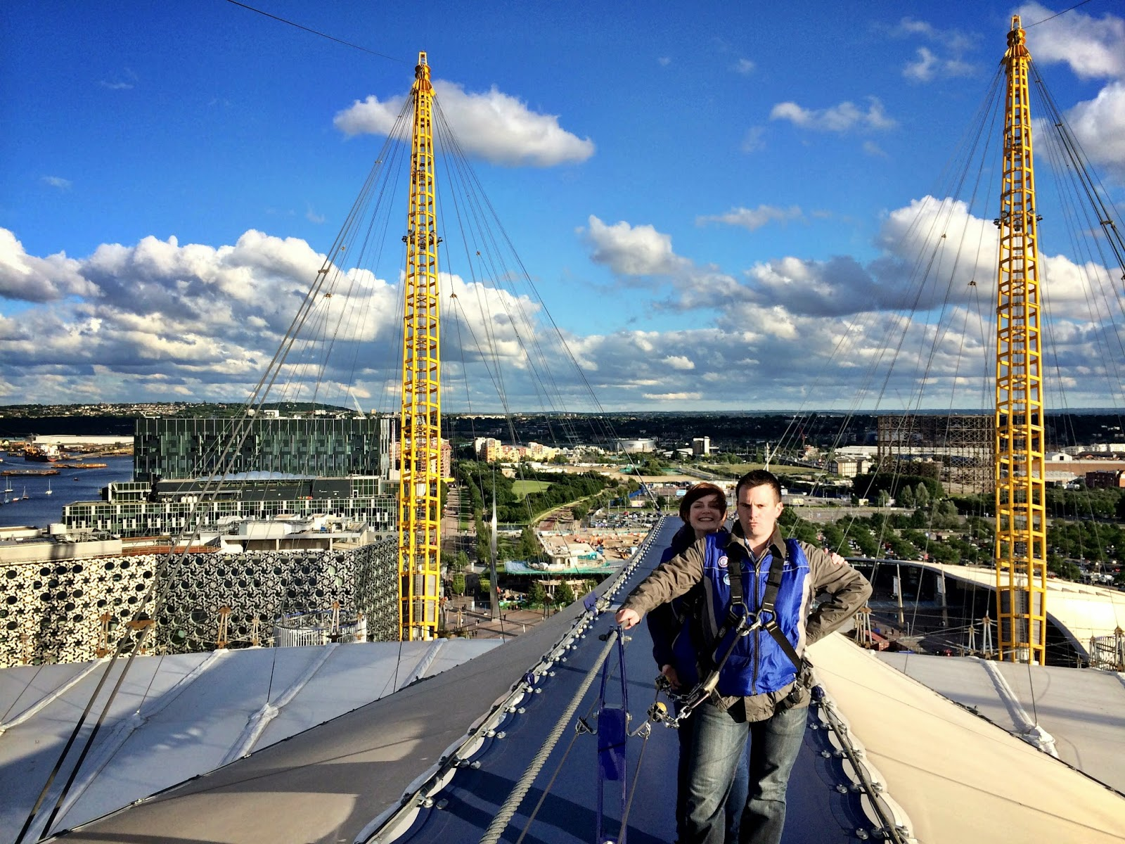 Mark and Lucy enjoying the O2 Arena hike