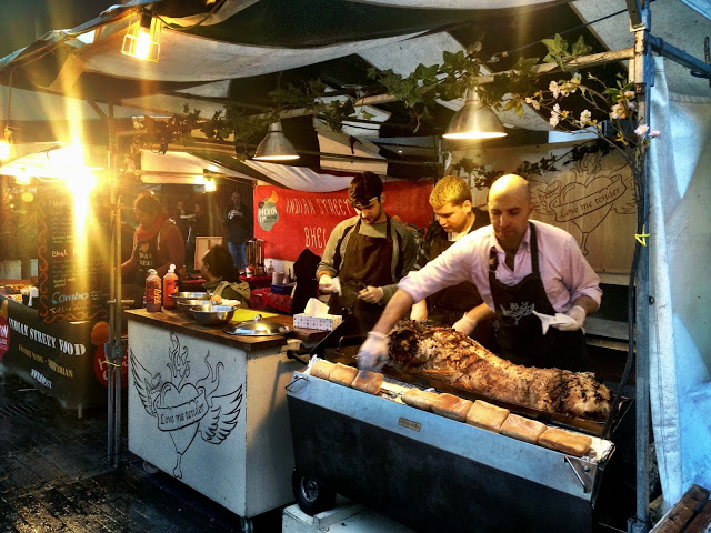 Organic hog roast - Real Food Market, South Bank, London
