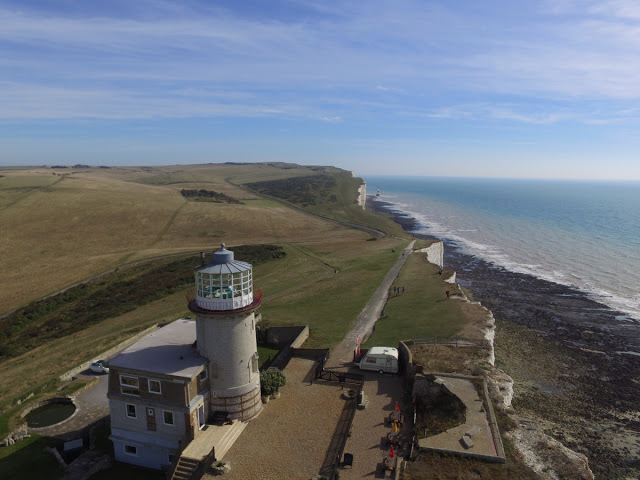 Belle Toute lighthouse at Birling Gap - Drone photograph